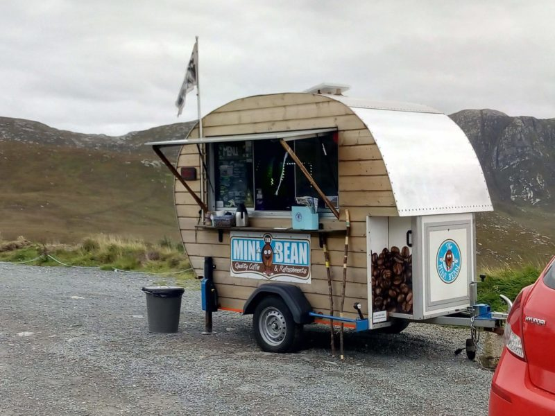 the mini bean coffee pod found on the roadsite on the way to Glenveagh castle