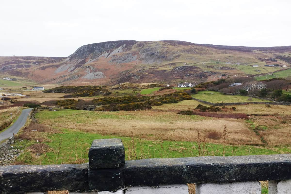 hills and valleys of glencolmcille Donegal Ireland