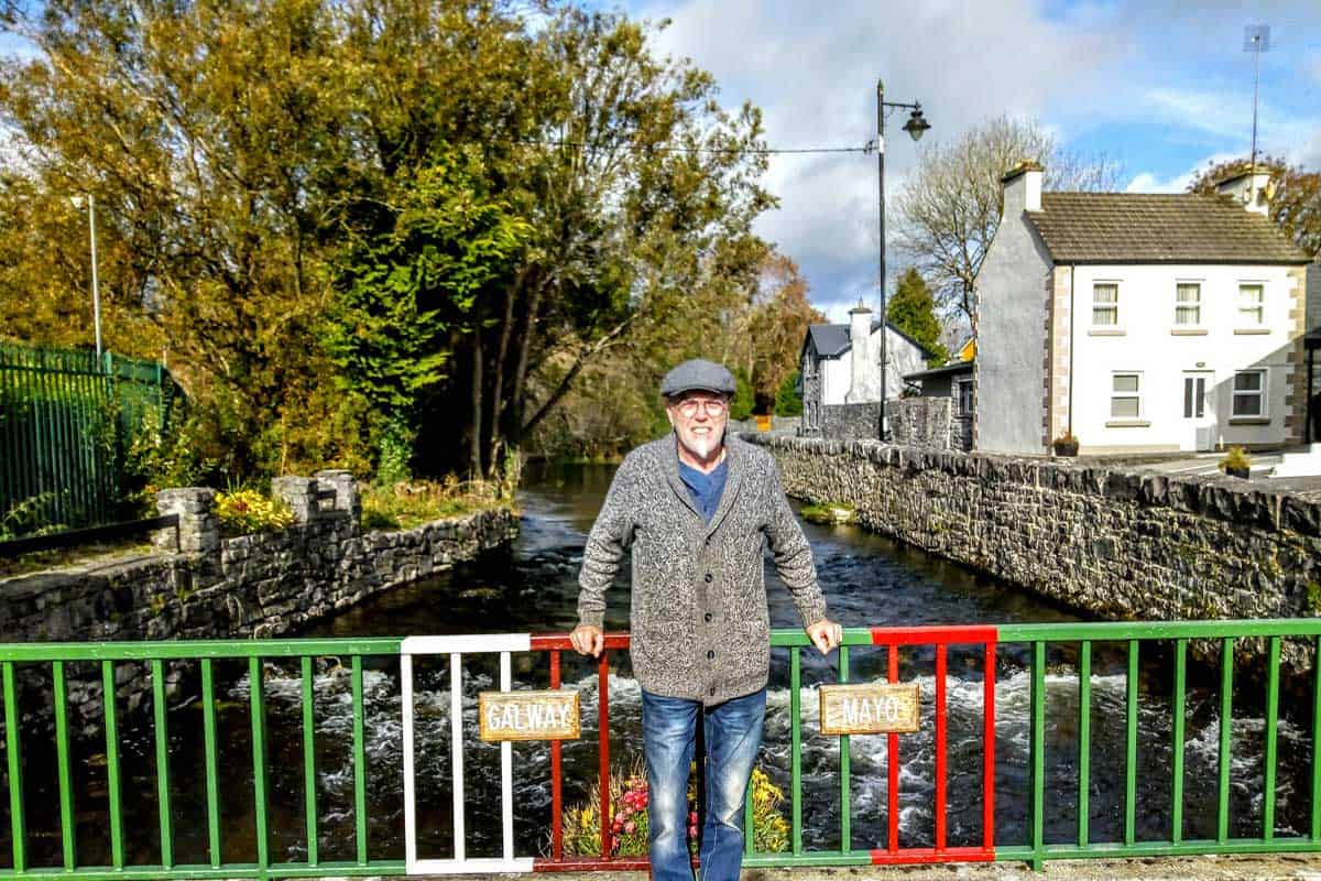 standing on the border between Cong and Mayo