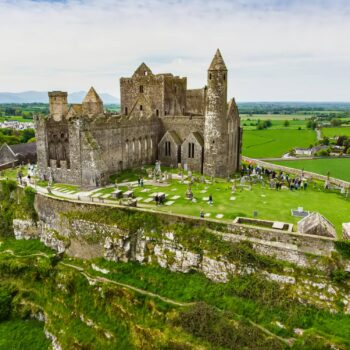 The Rock of Cashel, also known as Cashel of the Kings and St. Patrick's Rock, a historic site located at Cashel, County Tipperary. One of the most famous tourist attractions in Ireland.