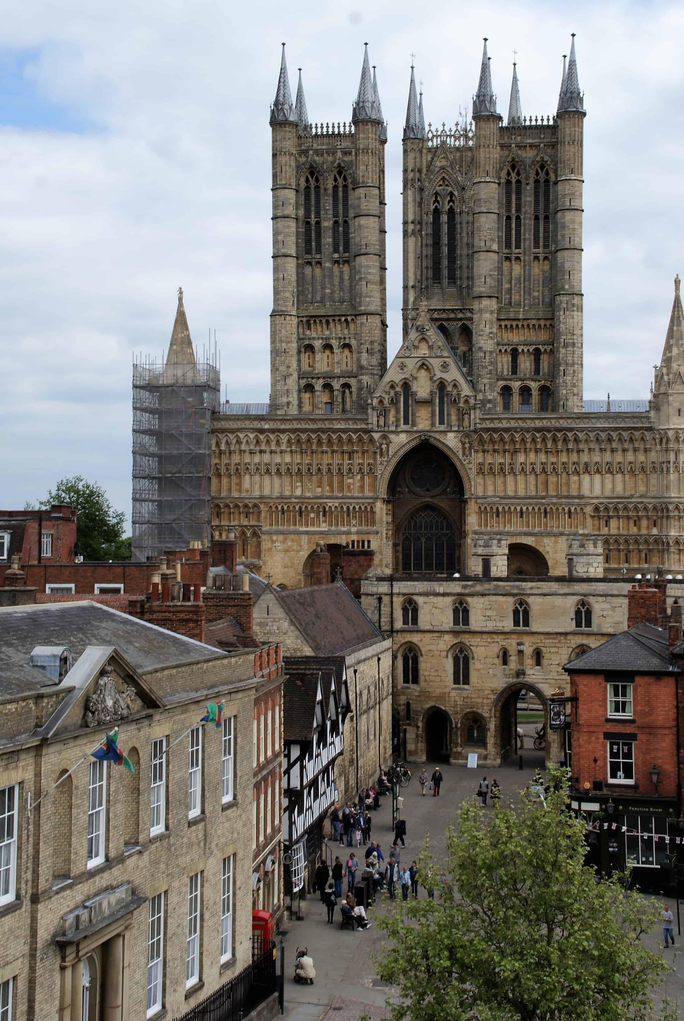 Lincoln Cathedral taken from the walls around the city