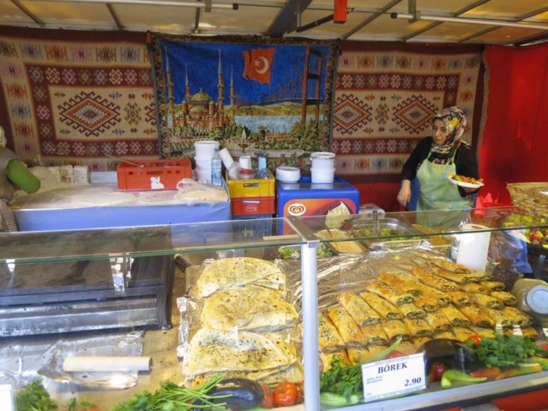 a burek stall in Turkey