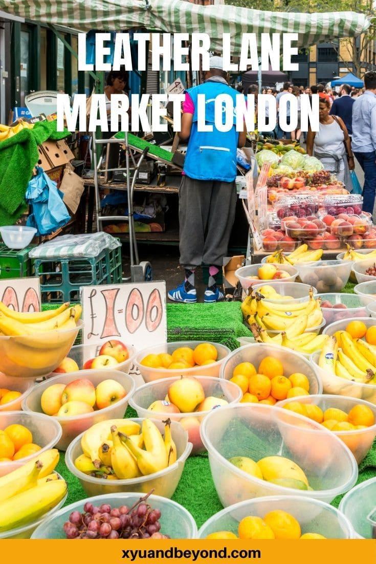 Leather Lane Market London a Delicious street food hub