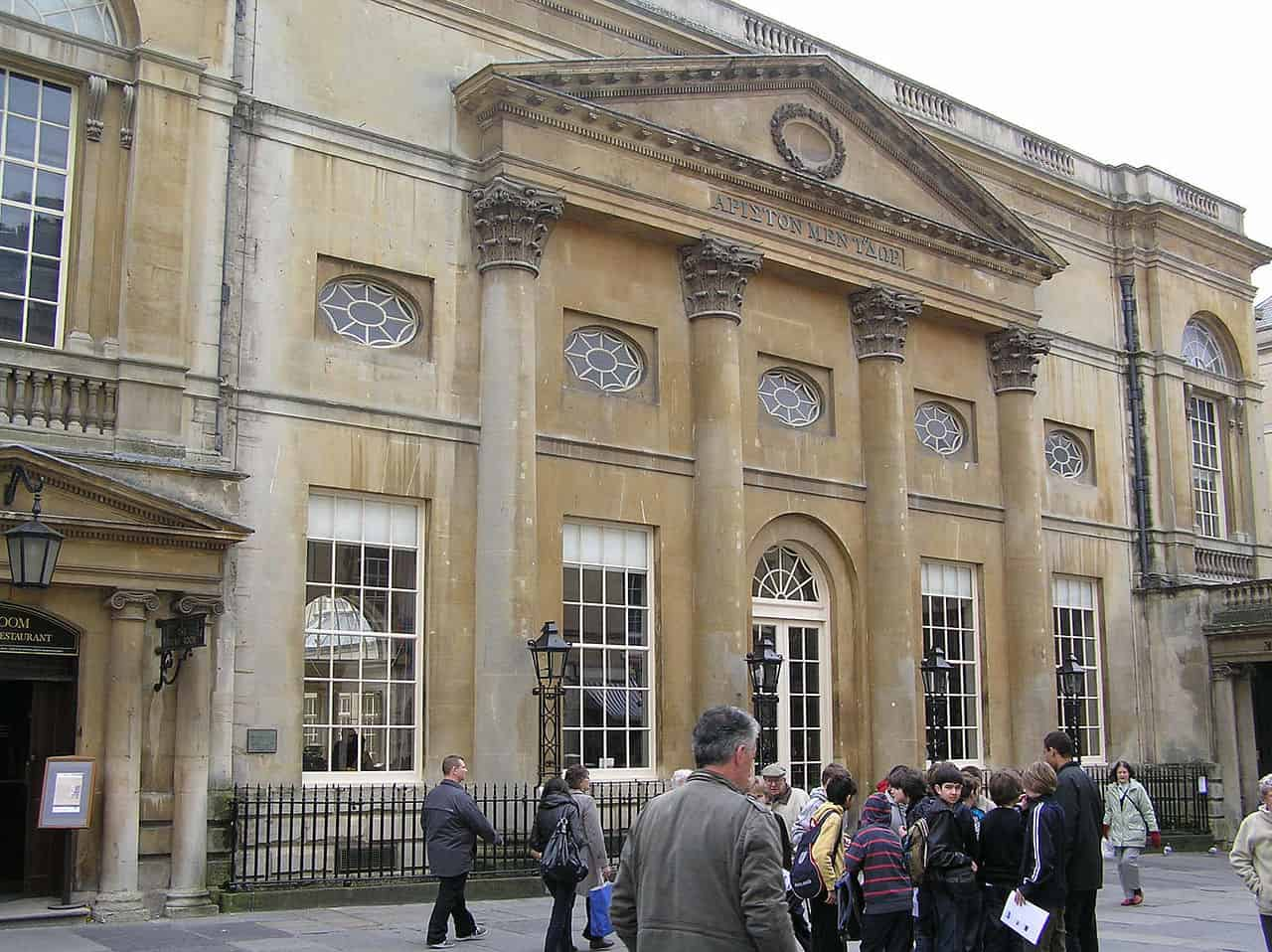 Pump rooms in Bath with some beautiful Georgian architecture - 2 days in Bath