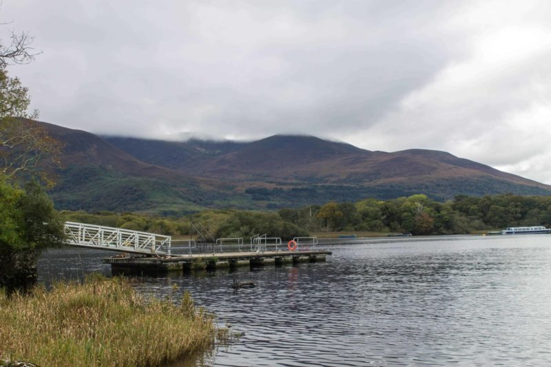 view of the beautiful loch in Killarney Ireland