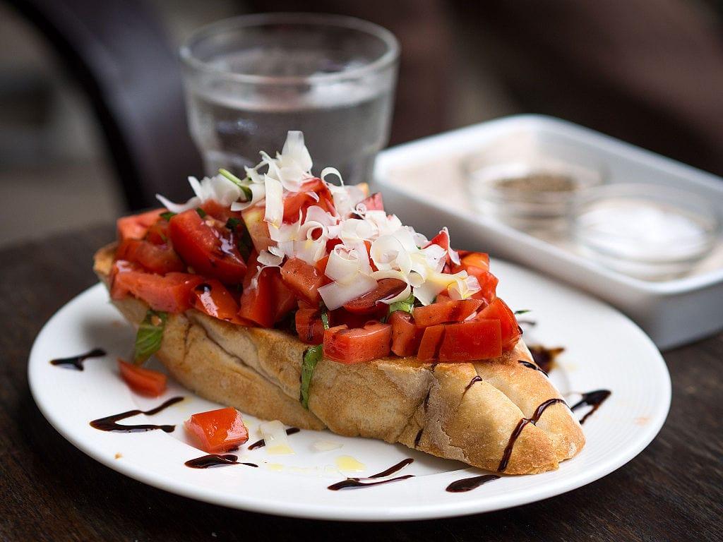 bruschetta food in Rome