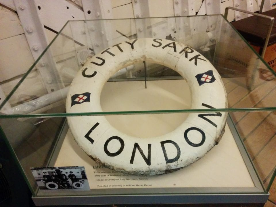 an original lifepreserver from the Cutty Sark