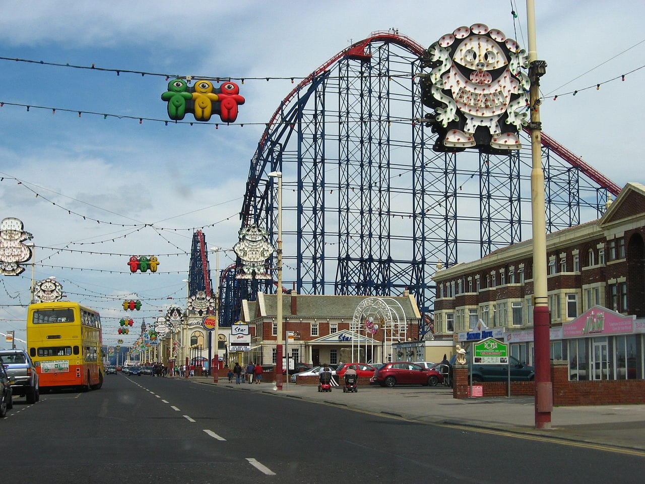 roller coaster when visiting Blackpool's Pleasure Beach