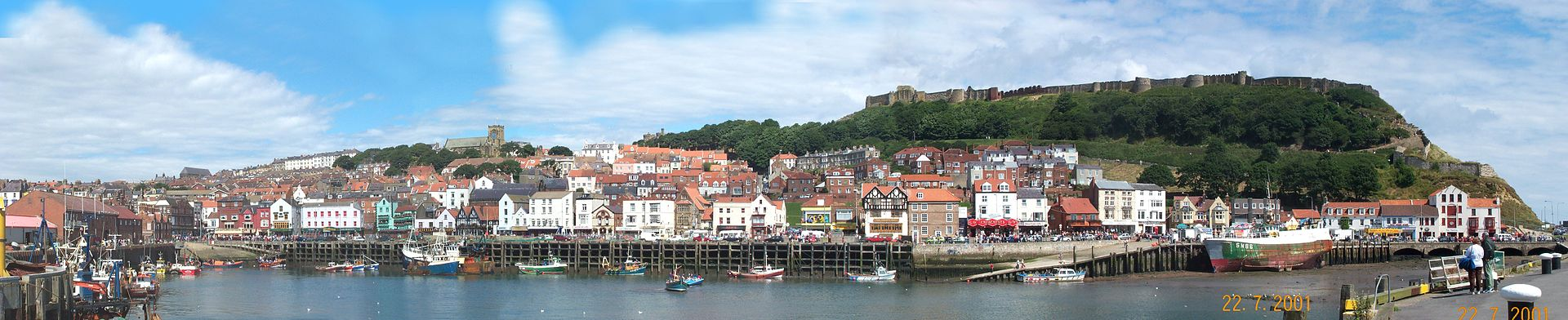 South bay panorama shot of Scarborough on the Yorkshire coast