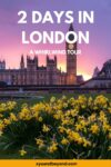 London 2 day Itinerary