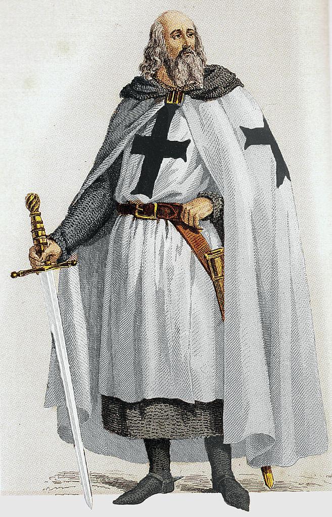 Jacques de Molay the leader of the Crusaders in Caravaca de la Cruz