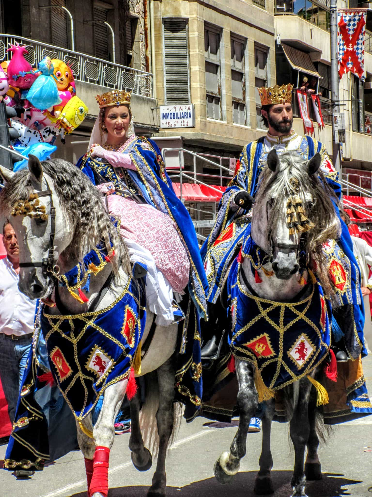 Caravaca de la Cruz festival of wine horses king and queen