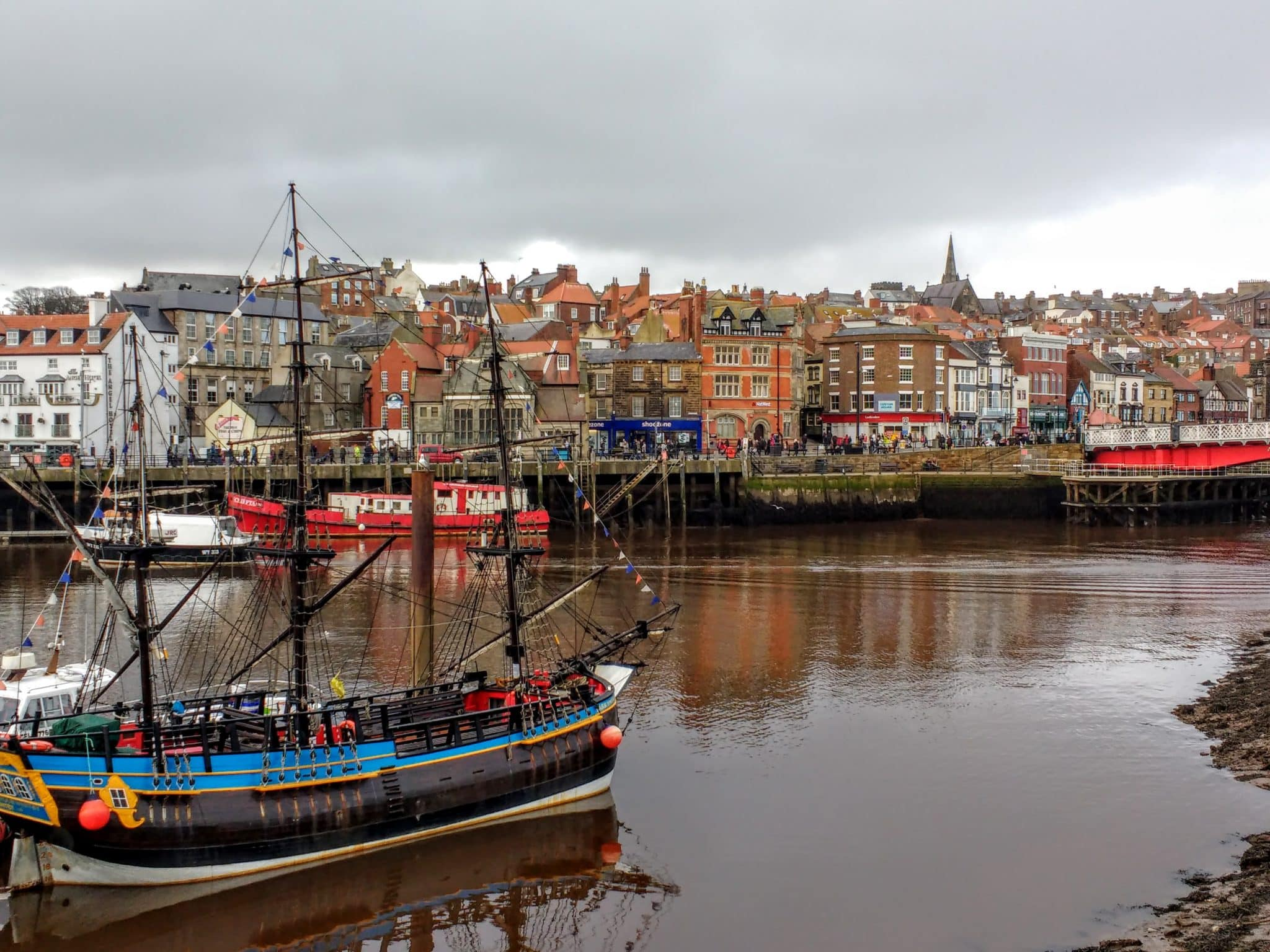 the Yorkshire Coast a view of the town of Whitby