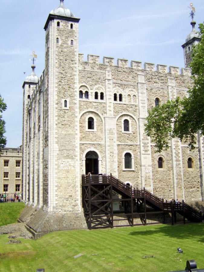 inside the Tower of London the original entrance Anne Boleyn was taken throuhg