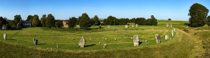 panoramic view of Avebury Henge