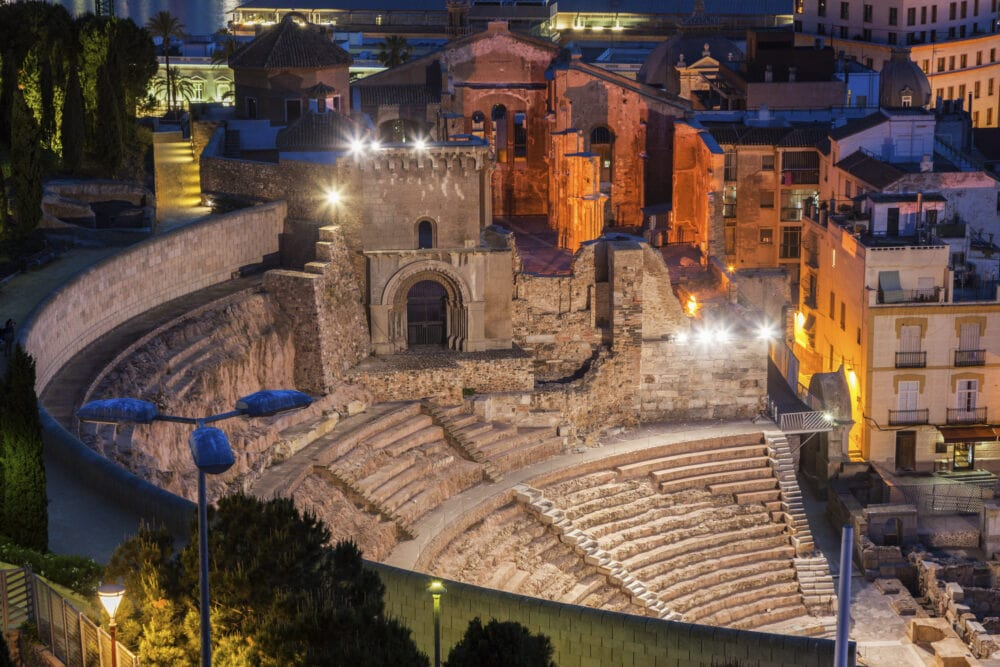 Roman Theatre in Cartagena. Cartagena, Murcia, Spain.