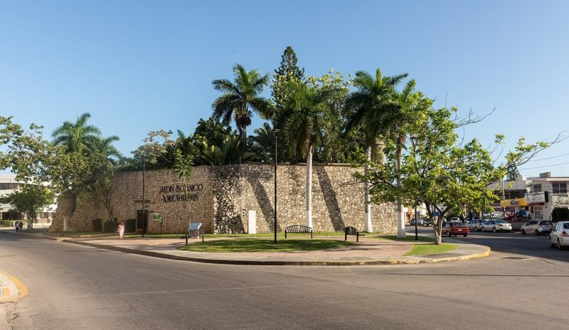 walls of the botanic gardens in Campeche