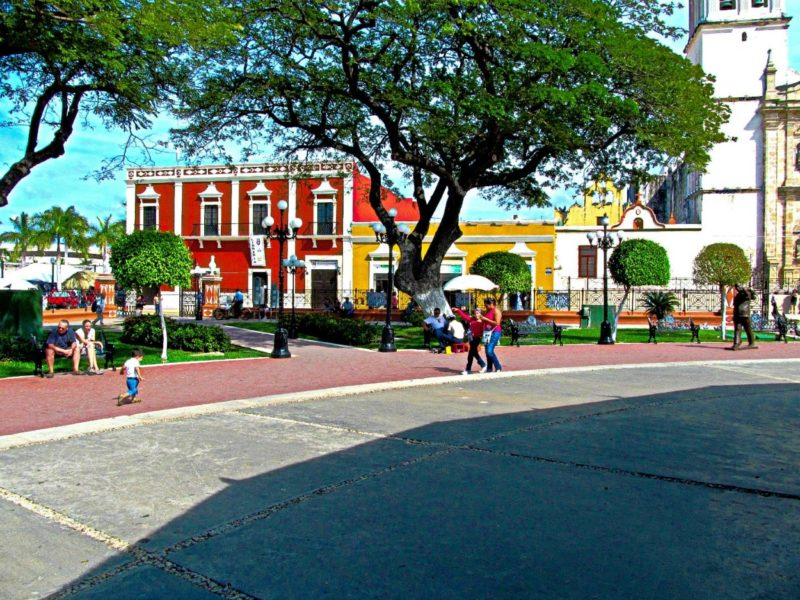 Centro area of Campeche Mexico