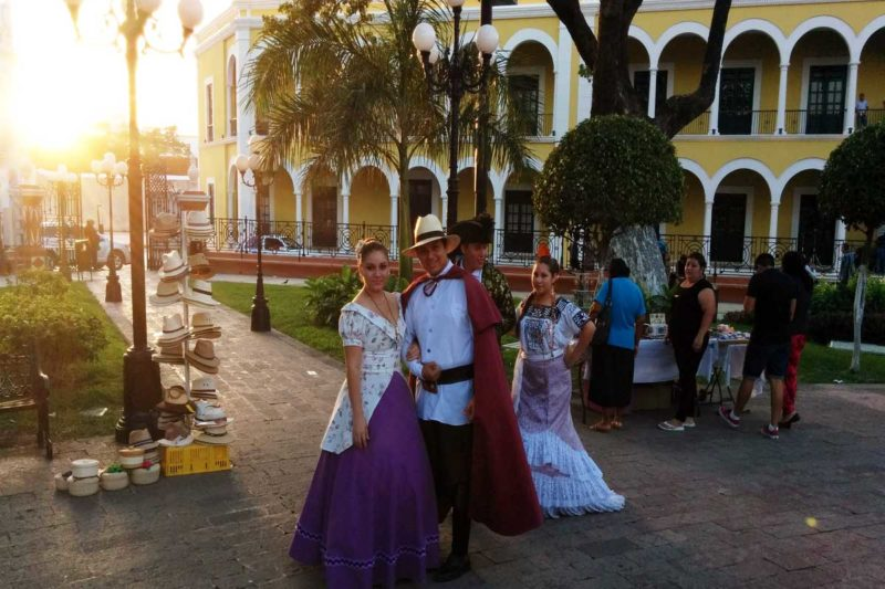 Beautiful Campeche a cotton candy coloured town in Mexico