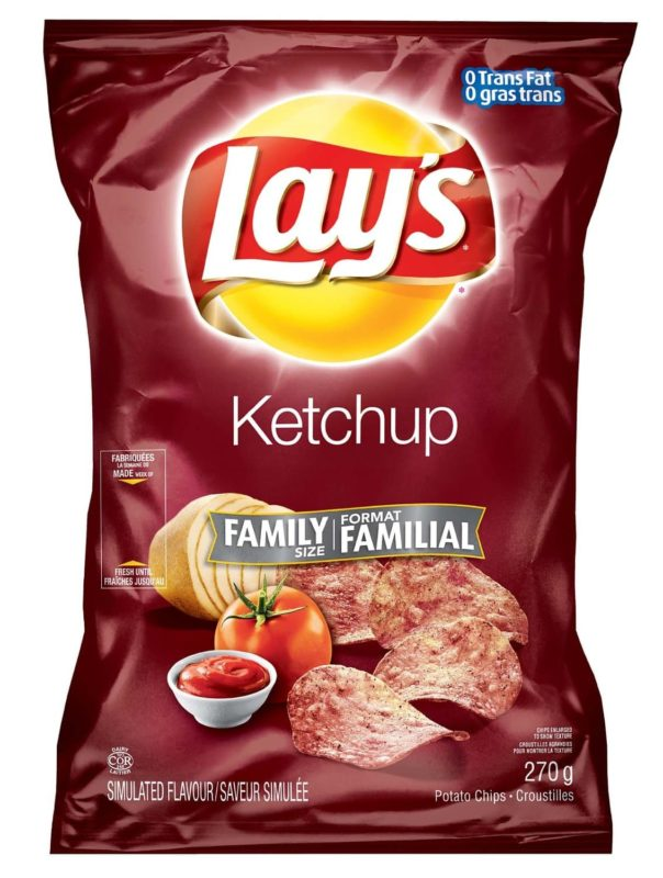 a bag of Lay's Ketchup chips another great Canadian food
