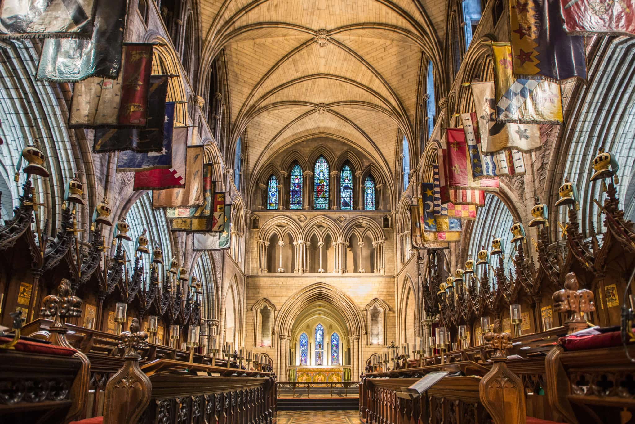 Christchurch Cathedral celebrating Christmas in Ireland