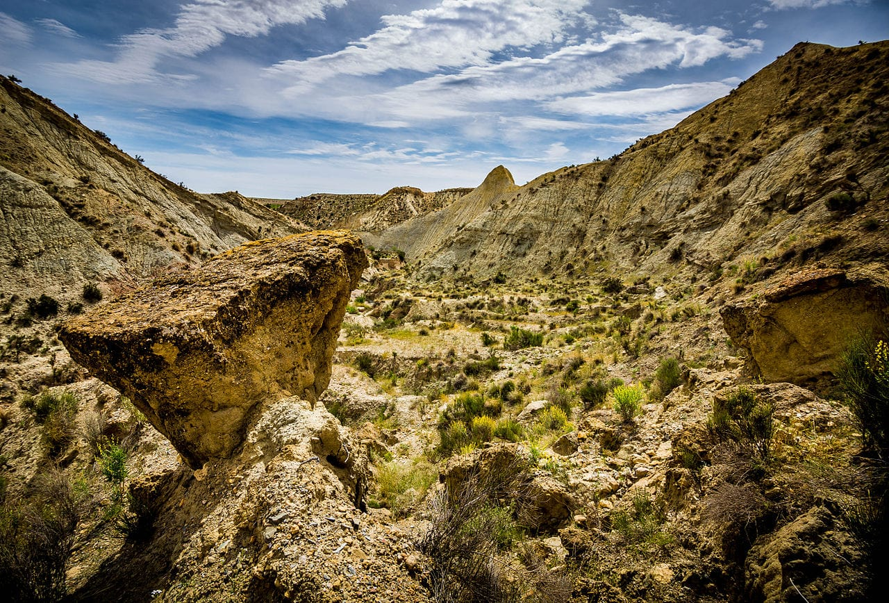 beautiful views of the rolling valleys and gulches of the Tabernas Desert