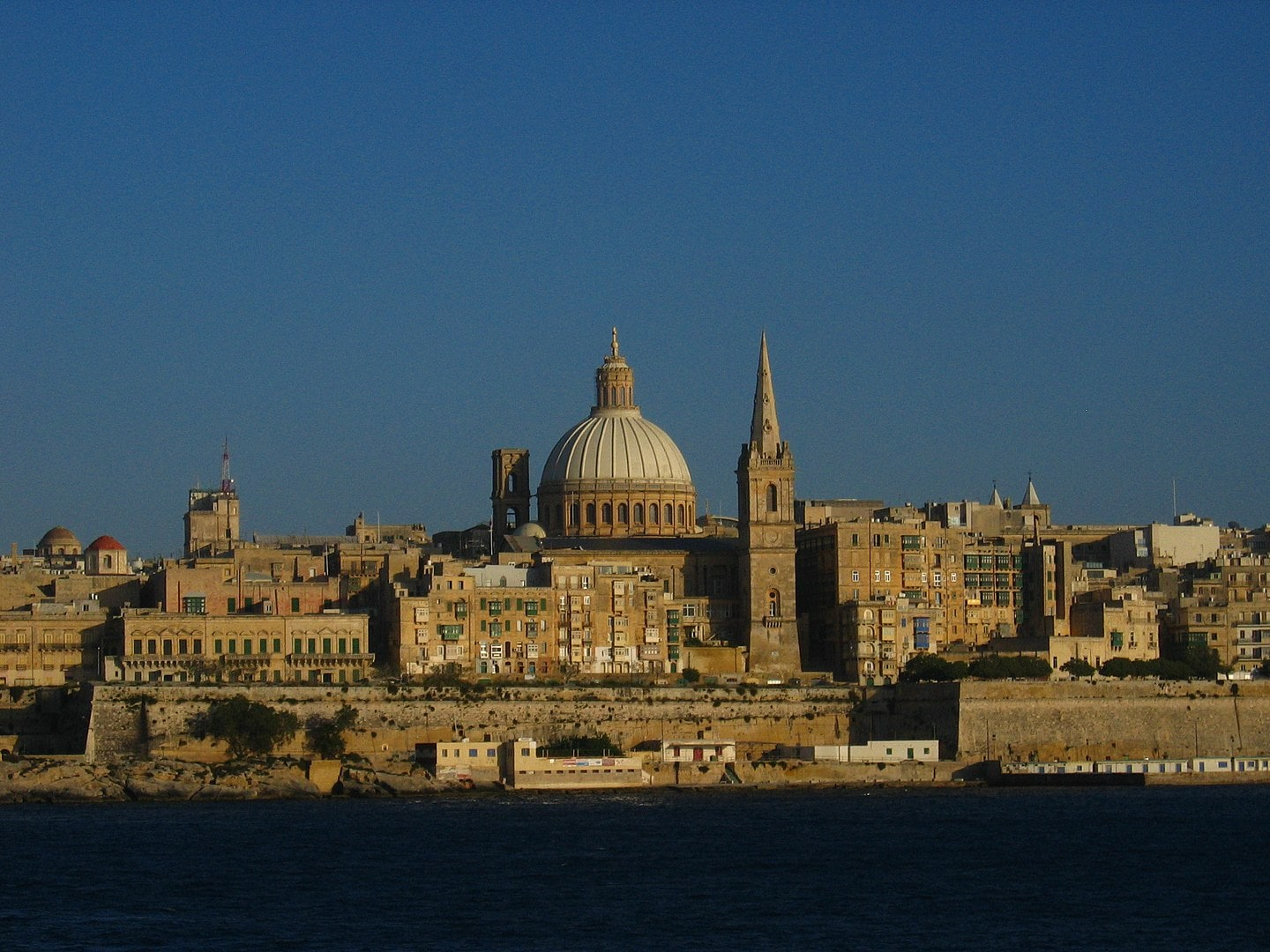 a view of Valletta Malta from the harbour where the cruise ships come in how to spend 2 days in Malta