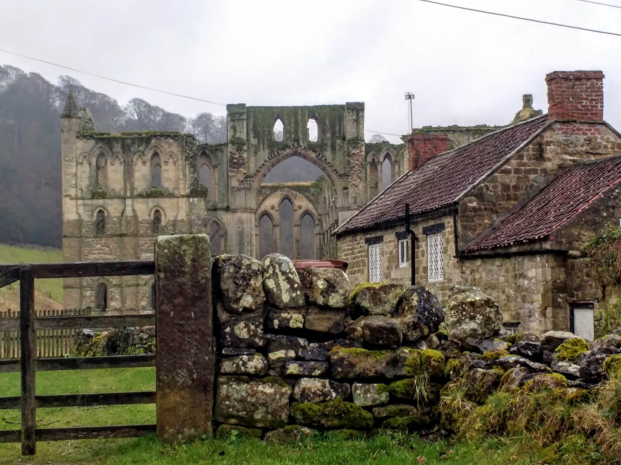 Rievaulx Abbey a haunting ruin in North Yorkshire