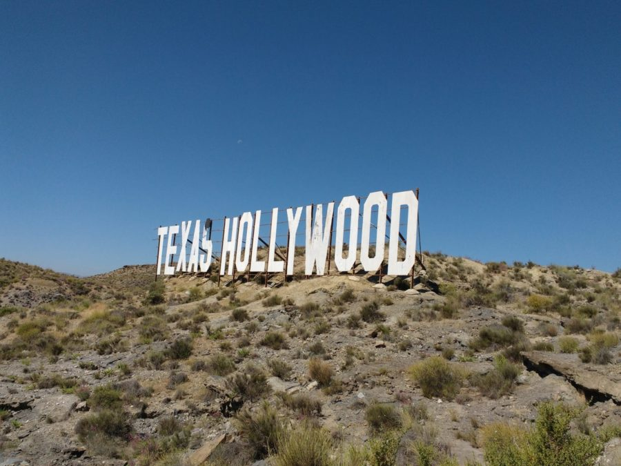 Texas Hollywood sign in the Tabernas Desert