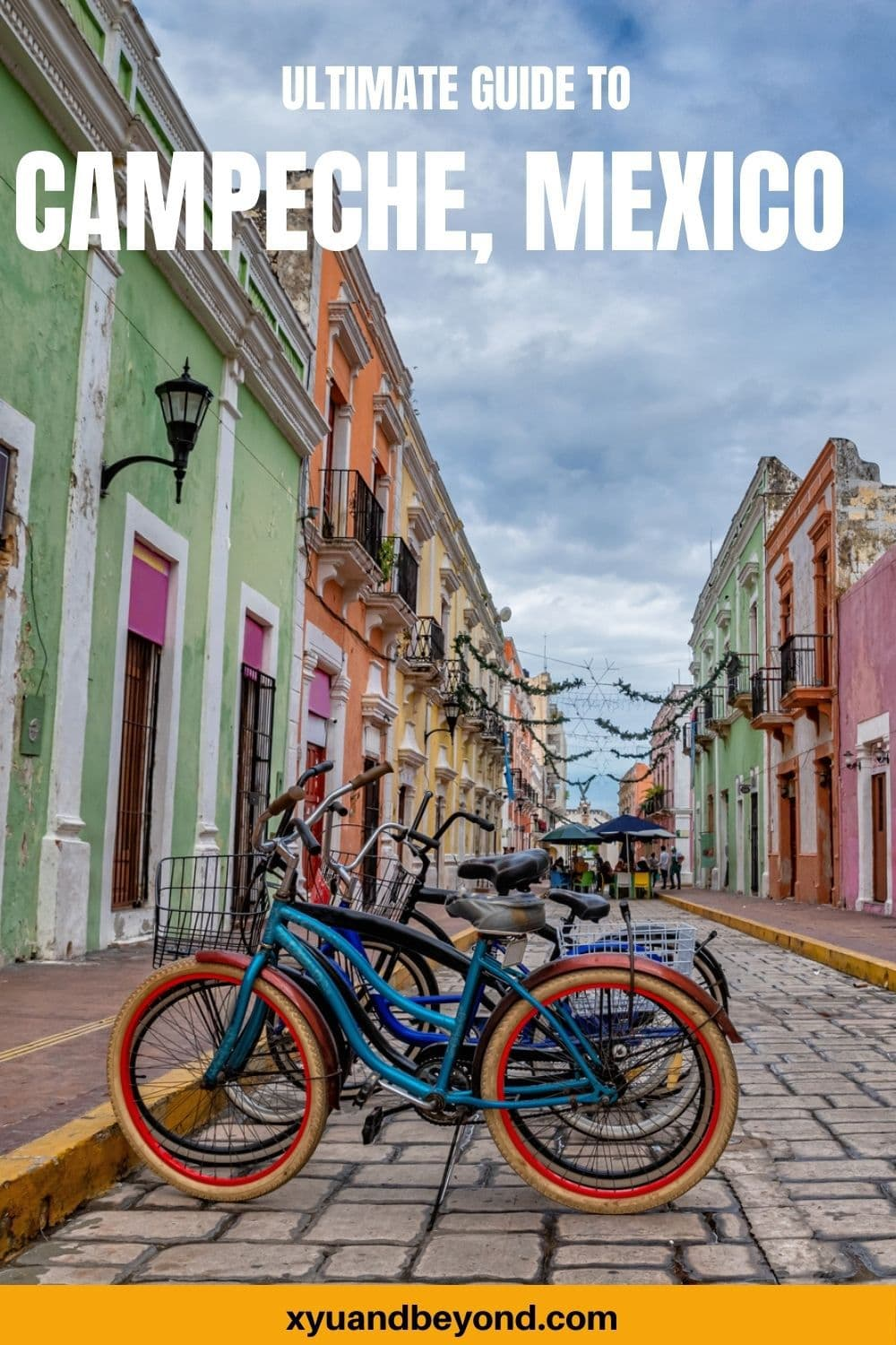 Beautiful Campeche Mexico a cotton candy coloured town
