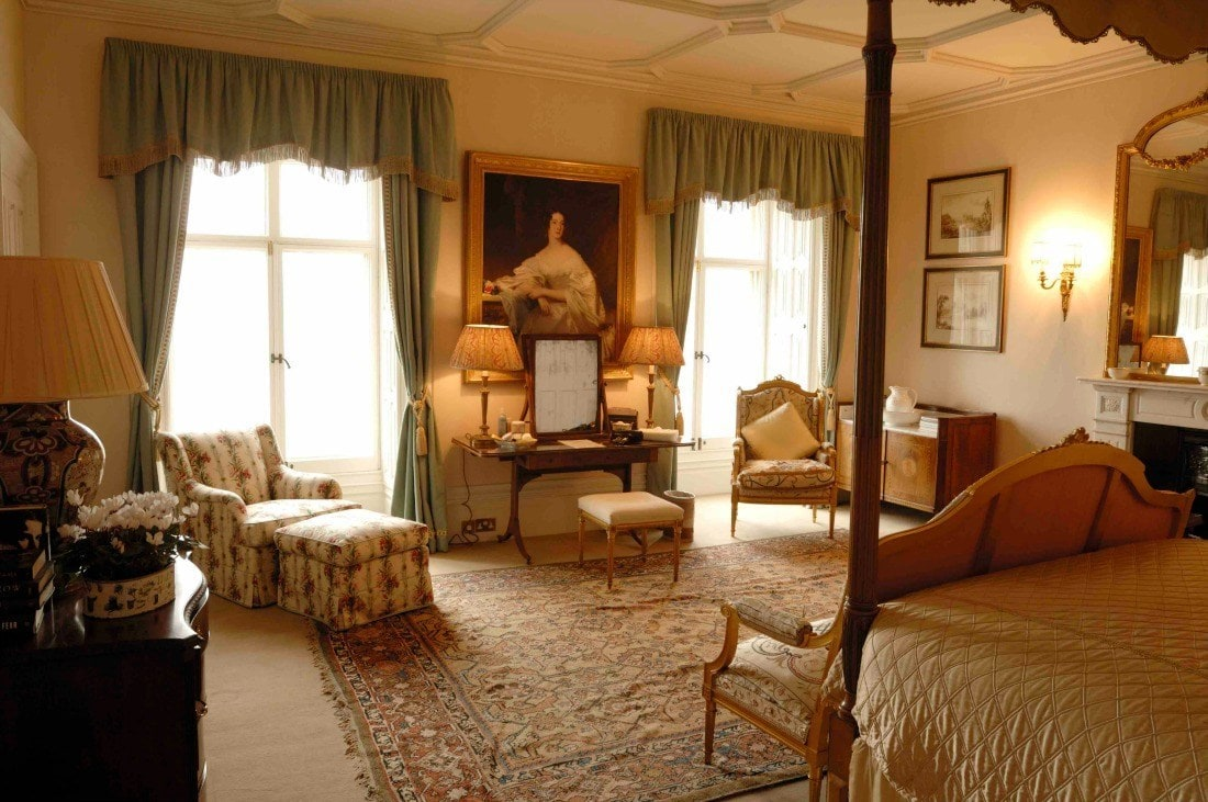 Cora's bedroom at HIghclere Castle aka Downton Abbey