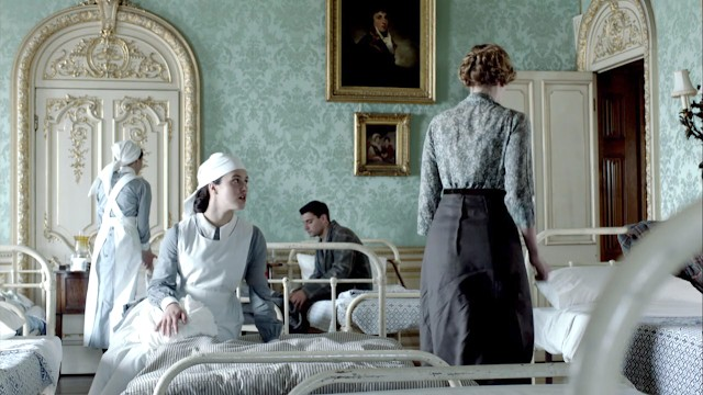 the Arundel bedroom at Highclere Castle used as a hospital in Downton Abbey