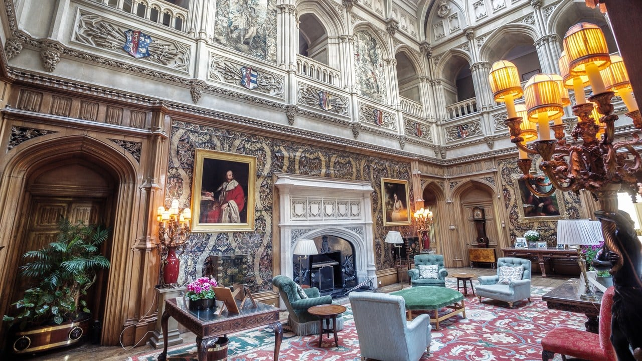 the grand saloon or stateroom at Highclere Castle