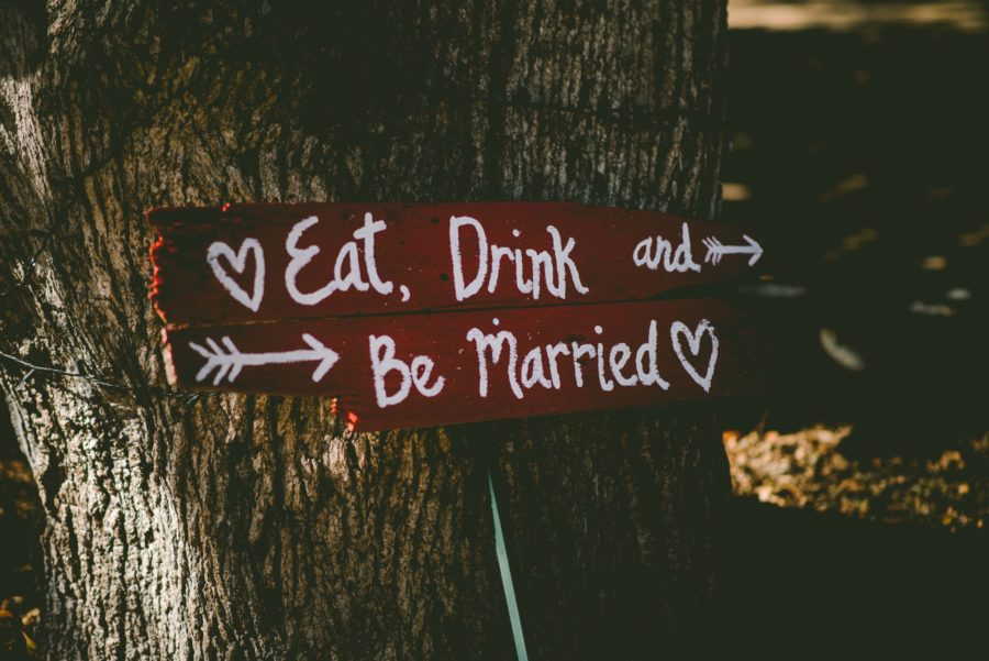 sign on tree eat, drink and be married in Ireland