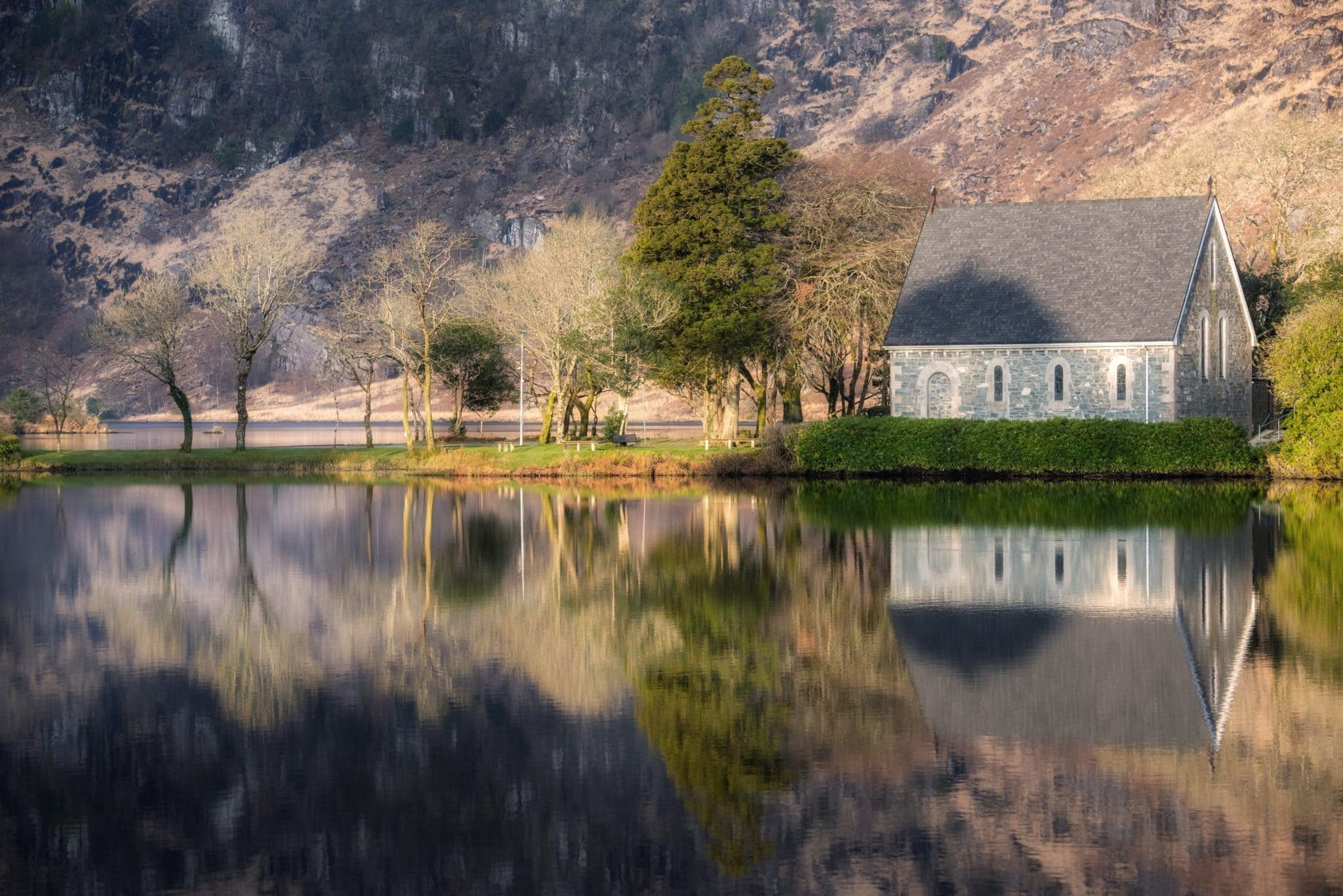 want to get married in Ireland? A tiny church Gougane Barra in Ireland