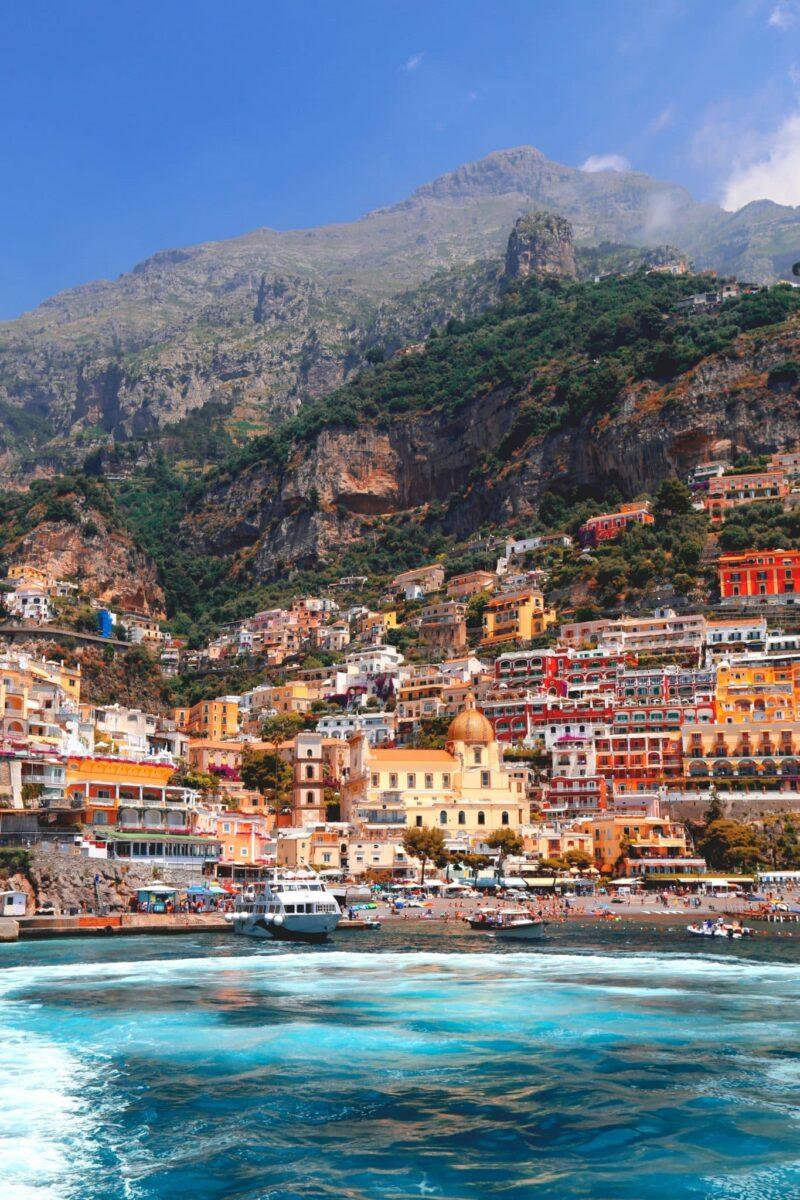 a hilltop city on the Amalfi coast