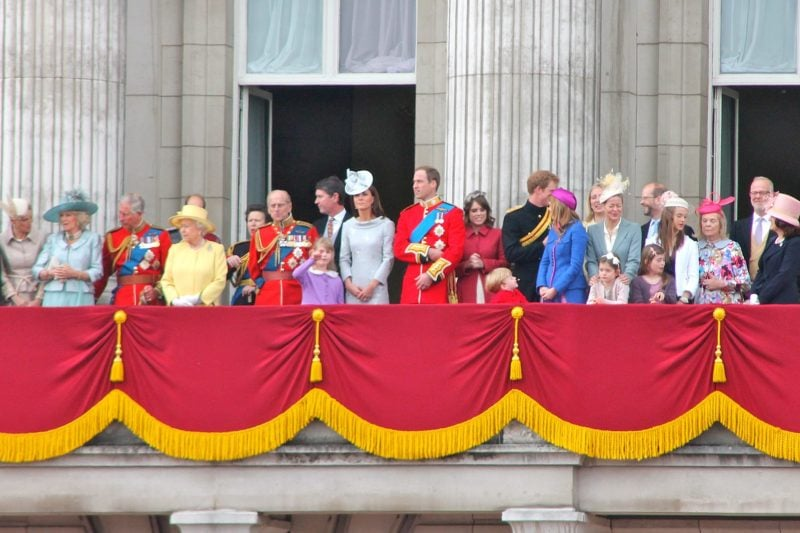 the Royal Family on the balcony of Buckingham Palace during one of the many ceremonies
