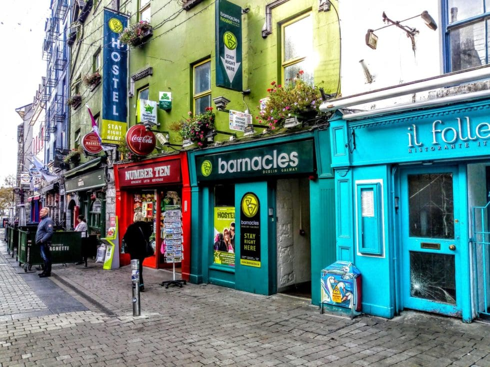 Galway city colourful shops