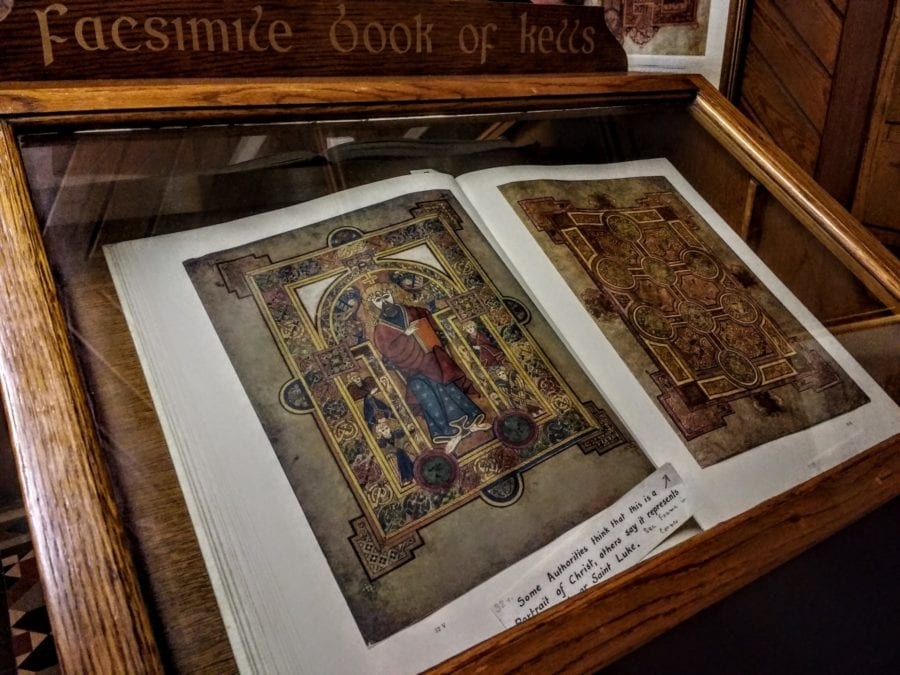 copy of the Book of Kells at Kells Ireland