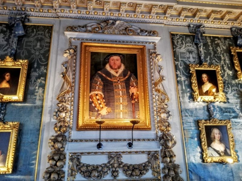 portrait of Henry VIII in the state rooms at Warwick Castle
