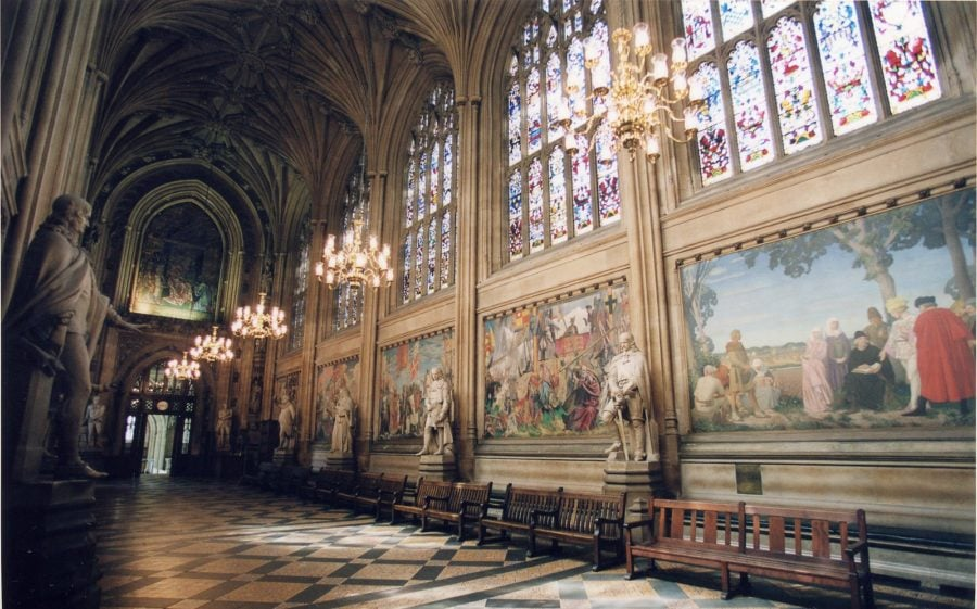 St. Stephen's Hall in the UK Parliament buildings