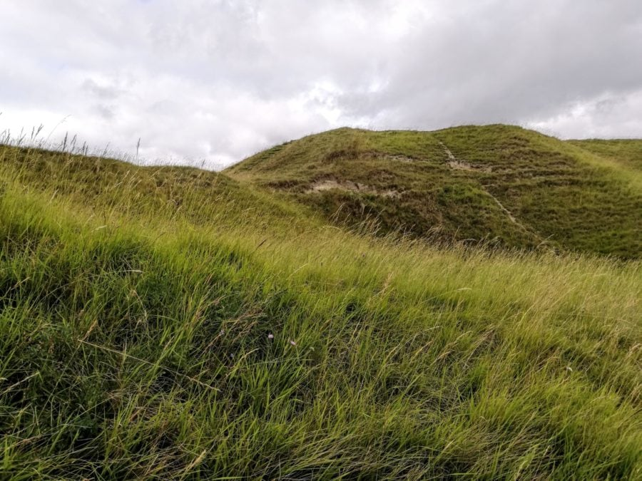 Uffington Castle mound near the white horse carving
