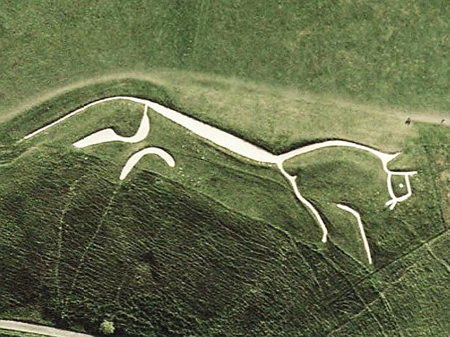 aerial view of the Vale of the Uffington White Horse