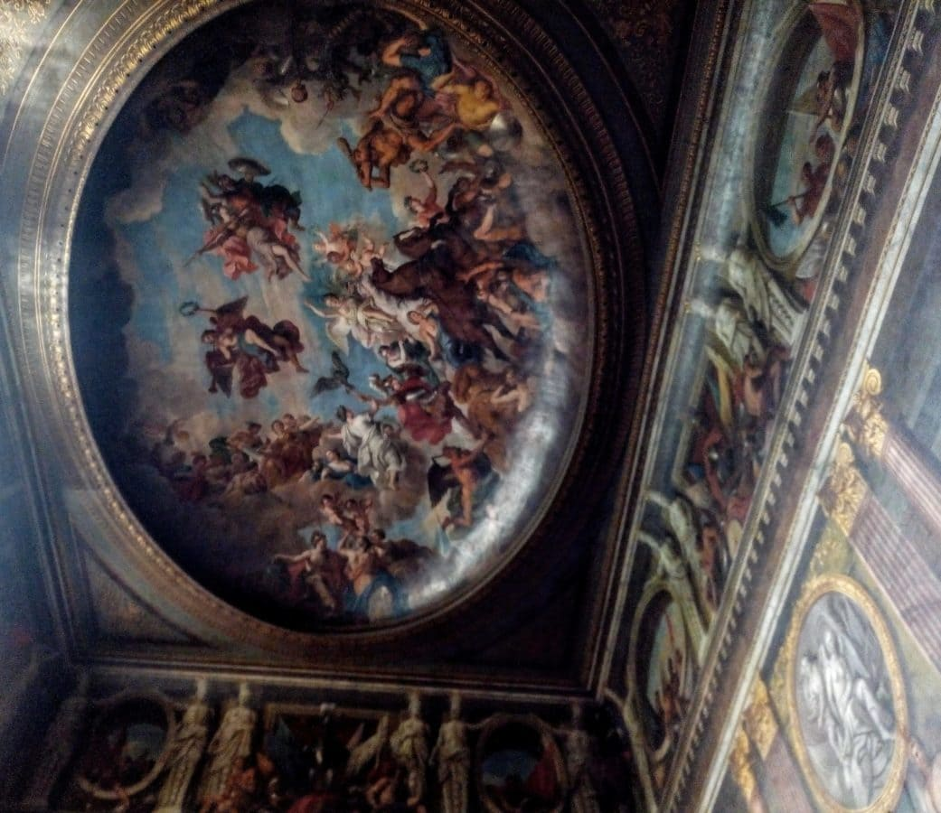ceiling of the great hall at Blenheim Palace