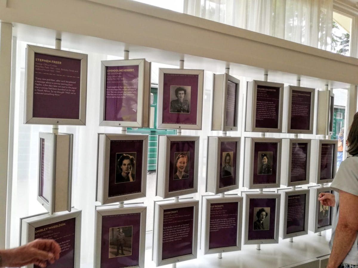 image display of codebreakers who worked at Bletchley Park
