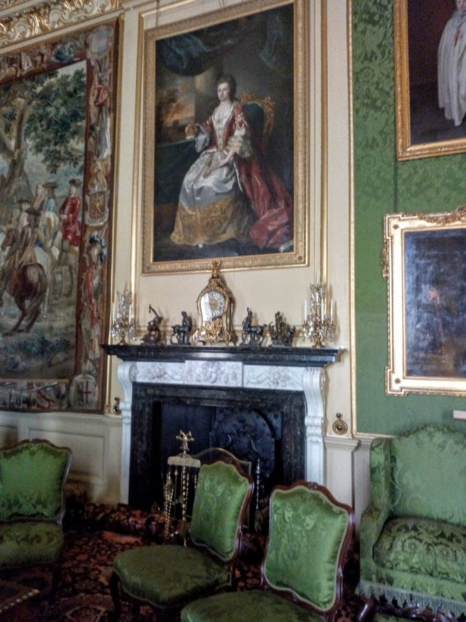the green room at blenheim palace