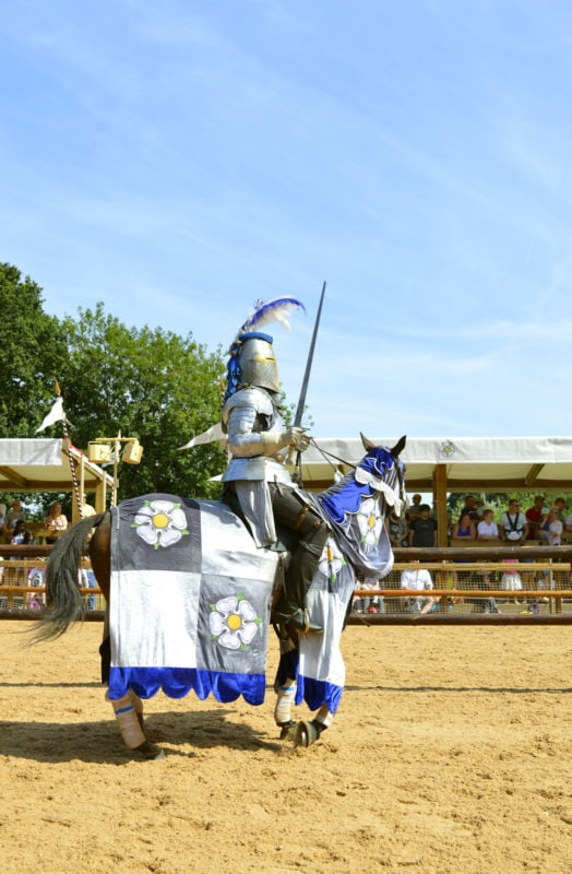 jousting at Warwick Castle for the War of the Roses