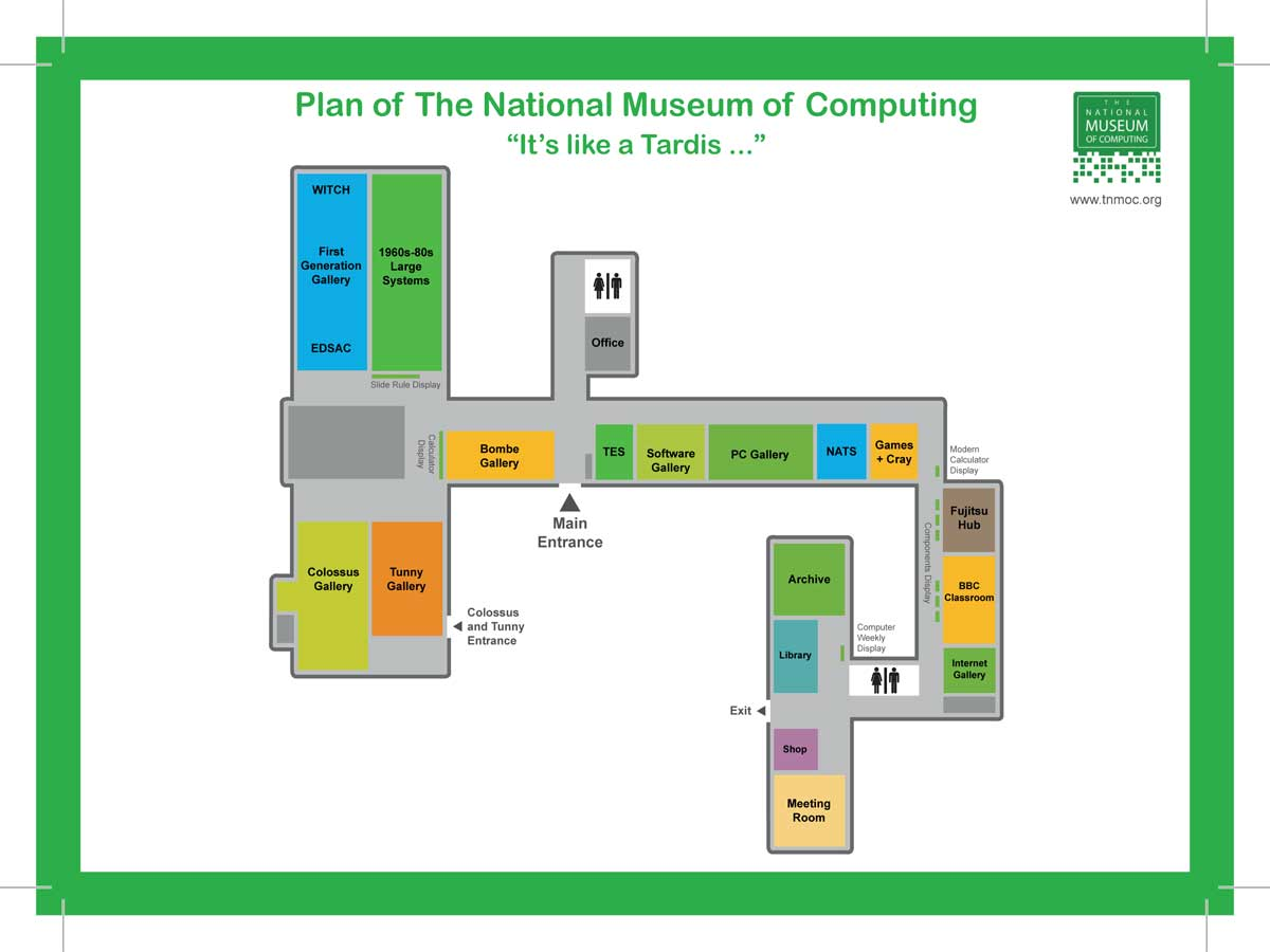 map of the National Museum of Computing at Bletchley Park