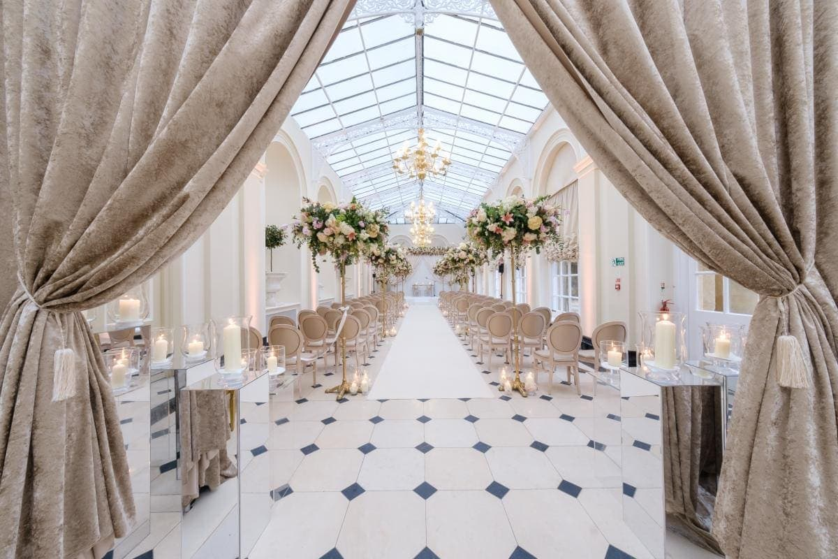 Blenheim set for a wedding