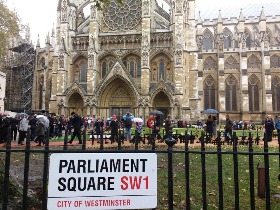 parliament Square and Westminster Abbey